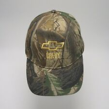 Chevy Camo baseball cap Strapback embroidered logo Hunting structured front