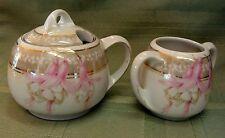 Vintage P P A A Bavaria pots w/ Lid -Gold Trim