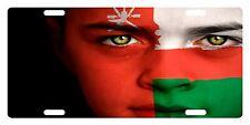 OMAN Flag Custom License Plate NATIONAL Emblem GIRL Version