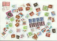 UK stamps x 67, used (presumed from booklets/special sheets) Batch 2 (Smilers)