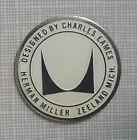 Herman Miller Eames Lounge Shell Chair Mid Century Vintage Furniture Foil Label
