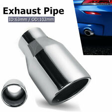 """Car Exhaust Tip Auto Tail Pipe Muffler Universal 2.5"""" Inlet 4"""" Outlet Tail Pipe"""