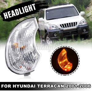 LH Left Front Car Fog Indicator Light Headlight Cover For Hyundai Terracan 01-06