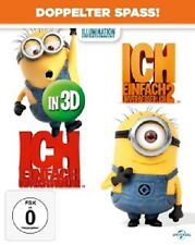 ICH EINFACH UNVERBESSERLICH 1 & 2 - 3D - 4 BLU-RAY NEU