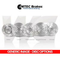 MTEC Front 345mm Brake Discs for AUDI A6 C7 3.0 TDI Quattro 245BHP 03/12-04/15
