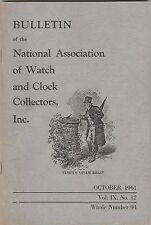 of Watch & Clock Collectors-1-1961,2-1985 3 Bulletins of the National Assoc.
