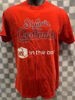 St Louis CARDINALS Baseball Jack in The Box T-Shirt Size XL