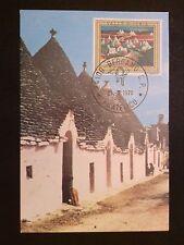 ITALIA MK 1976 VALLE D`IRIA TRULLI APULIEN MAXIMUMKARTE MAXIMUM CARD MC CM c8644