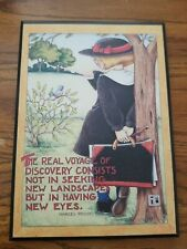 """Mary Engelbreit Colorplak Me 102 """"The Real Voyage of Discovery"""" 6 X 8.5 Vtg"""