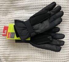 MEN'S SKI GLOVES 3M Insulation/Isolant size S/M w/ pockets NEW Black