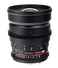 Bower Samyang Rokinon SLY24VDNX 24mm T/1.5 Digital Cine Camera Lens Samsung NX