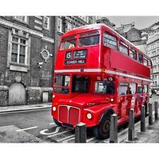 5D DIY Full Drill Diamond Painting Red Bus Cross Stitch Kits Home Decor Art Gift