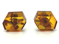 Amber CUFFLINKS Old Vintage Pressed Natural Baltic Amber Silver 800 12,6g 124S