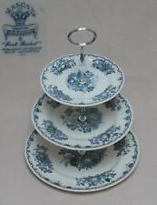 "Masons ""Fruit Basket"" (Blue) THREE TIER CAKE STAND"