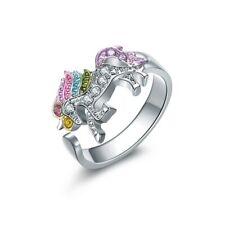 Fashionable Ring For Women And Girls Animal Unicorn Rhinestones
