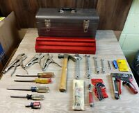 Vintage Lot Of Misc Craftsman Tools and Tool Box