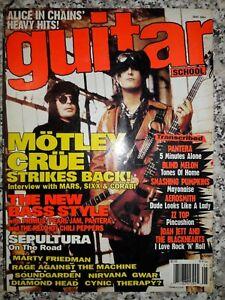 GUITAR SCHOOL magazine May 1994 issue MOTLEY CRUE Cover