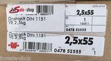 Würth Drahtstift Nagel Nägel DIN 1151 Stahl blank 2,5 KG 2,5x55 04785255