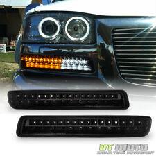Blk LED Design 1999-2006 GMC Sierra Yukon Signal Lamps DRL Parking Bumper Lights