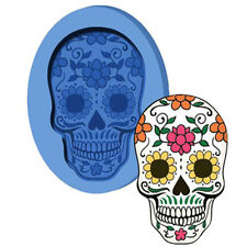 JM Skull shape silicone fondant  mold  chocolate mold  for cake decorations tool