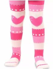 Naartjie Kids Girls Stripes with Heart Tights Pink Tight NWT Size 9-10