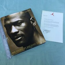 BOOK 1998 FOR THE LOVE OF THE GAME MY STORY MICHAEL JORDAN MCI WORLDCOM LETTER