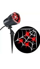 Halloween LED Projection Plus Whirl-A-Motion Static Red Spider with White Web