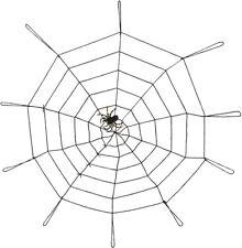 Halloween Giant Black  Spiders Web 150cm Indoor Outdoor  Cobweb with Spider