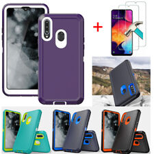 For Samsung Galaxy A20S A20 Case Hybrid Cover Armor With HD Screen Protector