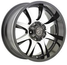4 BRAND NEW Panther Offroad 578 20x9 6X135 / 6X139.7 -12 GLS BLK MACH Wheels