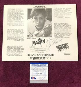 George A. Romero Signed Autographed Night of The Living Dead COA PSA/DNA JSA LOA