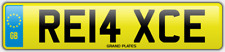 Relax Relaxed number plate RE14 XCE CAR REG FEES PAID RELAXING DRIVE CHILL COMFY