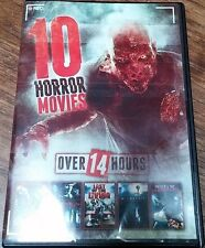 10 Horror Movies (Dvd) Night Of The Living Dead Zombie Dearest No Case