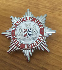 A  Bradford City  Fire Brigade, cap badge. Officers Enamel Badge.