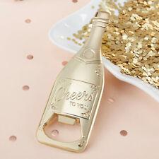 Gold Champagne Bottle Opener Wedding Bridal Shower Party Favor Gift MW36696