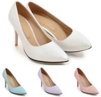 Fashion Damenschuhe Pumps Spitz Stilettos High Heels 44/48 Slipper Business B