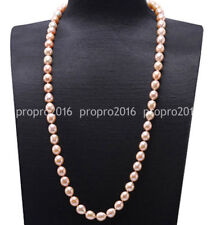 24'' Handmade Women's 7-8mm Natural Pink Freshwater Rice Pearl Necklace PN1291