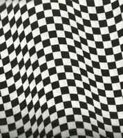 Black and White Checkered Flag Timeless Treasures fabric