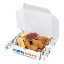 5'' Chips chippy takeaway cardboard box pie fish nuggets wedges take out x100