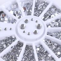 Strassstein Nagel Glitter Sticker Rad Straßsteine UV Gel Nail Art Studs