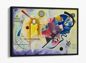 WASSILY KANDINSKY, YELLOW-RED-BLUE -FLOAT EFFECT CANVAS WALL ART PICTURE PRINT
