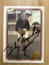 DICK REYNOLDS SUPER RARE HAND SIGNED HALL OF FAME CARD #49 OF 110 MINT CONDITION
