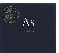 GEORGE MICHAEL & MARY J. BLIGE - AS (THE MIXES) 1999 UK CD SINGLE DIGIPAK EPIC