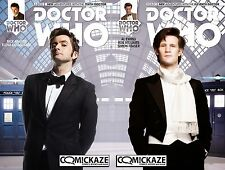 Doctor Who #1 10th & 11th Doctor Comickaze Exclusive Photo Variant Set Titan BBC