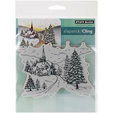 Penny Black Decorative Rubber Stamps, Snowy Hamlet, New, Free Shipping