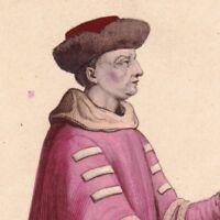 Portrait de Jean Ier Duc de Berry Comte Montpensier d'Etampes Capétiens Valois