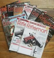 Lot of 9 American Rifleman Magazine Back Issues NRA 2015 & 2016