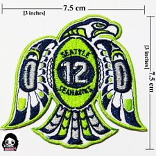 Seattle Seahawks 12 Football  Sport Logo Embroidery iron- sewing-patch on fabric