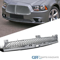 Fit 11-14 Dodge Charger Mesh Honeycomb Chrome Lower Front Bumper Hood Grille
