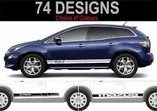 Mazda cx7 side stripes decals stickers graphic side stripe both sides